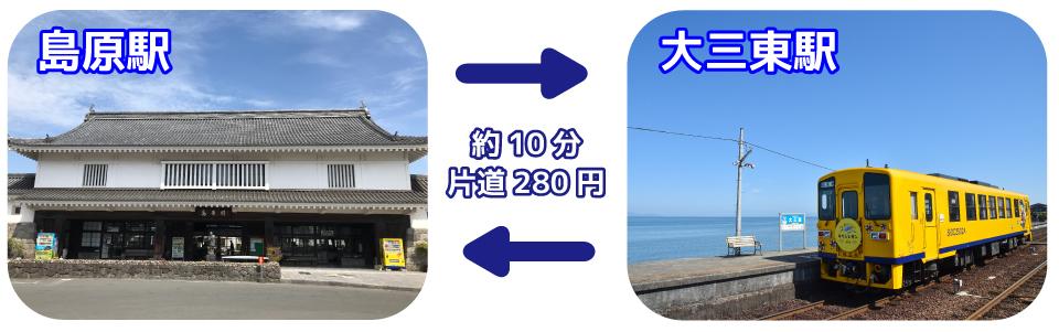 島原駅⇔大三東駅