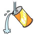 缶の中を洗う