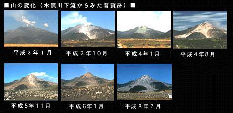 普賢岳の変化