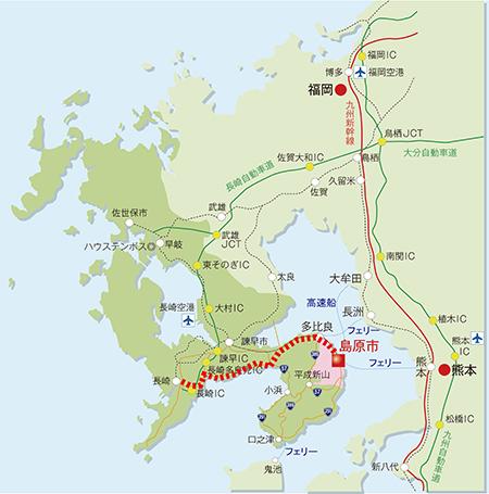 w450車ルート(長崎~有喜~島原)