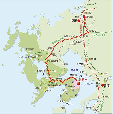 w450車ルート(福岡~島原)