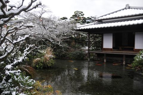 四明荘(雪)