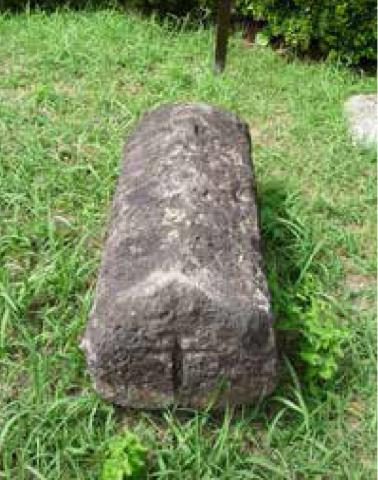 キリシタン墓碑(島原城01)