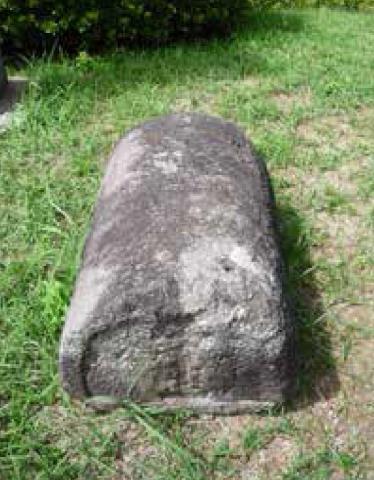 キリシタン墓碑(島原城02)
