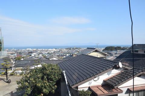 2階窓からの風景