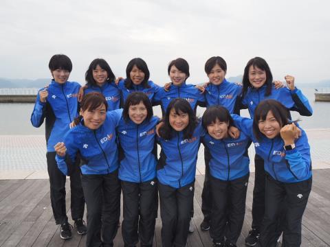 12月23日(日曜日)から12月29日(土曜日)まで、「エディオン女子陸上競技部」が島原市で合宿を行います。写真提供:エディオン女子陸上競技部