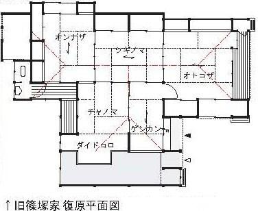 027+201211武家住宅(平成24年11月号) 篠塚邸平面図
